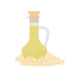 sesame organic oil in glass bottle vector image