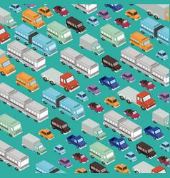 set cars isometrics proy pattern vector image
