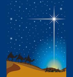 shining star bethlehem vector image