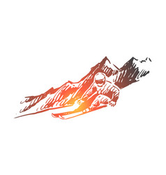 ski snow winter sport extreme concept vector image