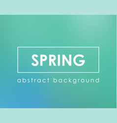 spring or summer green nature blur boken color vector image