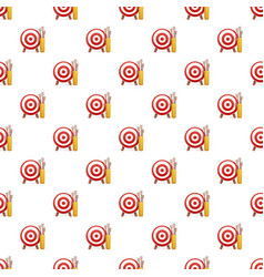 target arrow pattern seamless vector image