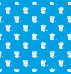 tennis ball machine pattern seamless blue vector image