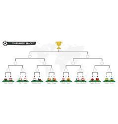 tournamet bracket templates euro 2020 vector image