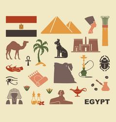 traditional symbols egypt vector image