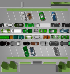 traffic jam image vector image
