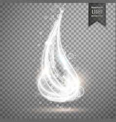 Transparent glowing light background vector