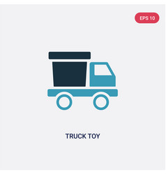 two color truck toy icon from toys concept vector image