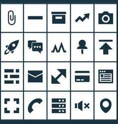 user icons set collection of change minus vector image