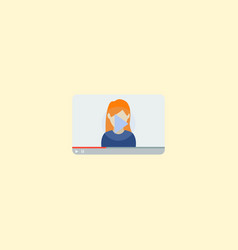 video blogger icon flat element vector image