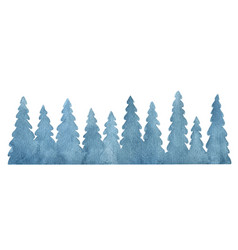 watercolor background with fir trees vector image