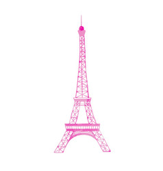Watercolor eiffel tower vector