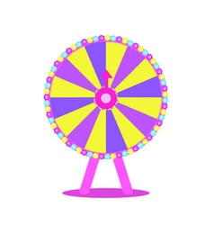 wheel fortune roulette luck flat icon for vector image