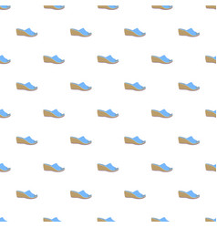woman slippers pattern seamless vector image