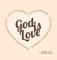 bible verse for evangelist and valentine vector image