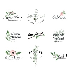 Bright logos for creative people vector image