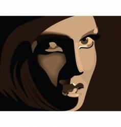 brown girl vector image vector image