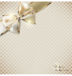 Holiday banner with ribbons background vector image vector image