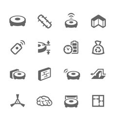 Simple Robot Cleaner Icons vector image vector image