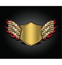 vintage race emblem vector image vector image