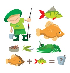 fisherman trophy vector image