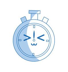kawaii chronometer clock stopwatch timer speed vector image