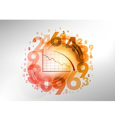 numbers red with graph vector image vector image