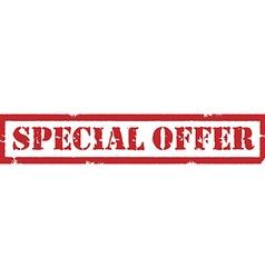 Special offer stamp vector image