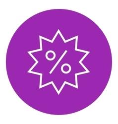 Discount tag line icon vector image vector image