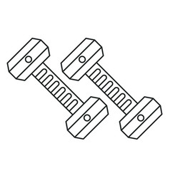 dumbbell weight gym equipment outline vector image