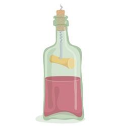 Half Bottle of Wine vector image