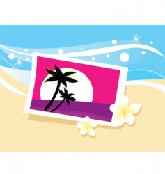 vacation photo in sand illustration vector image