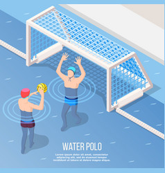 water polo isometric background vector image