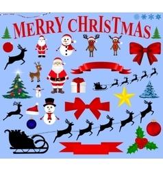 Christmas icons for celebratory design vector