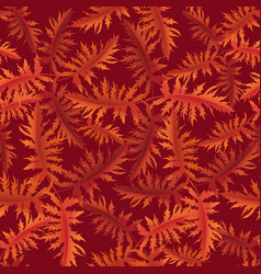 floral pattern leaves seamless background vector image vector image