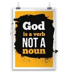 God is a verb not noun simple design vector image