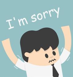 i sorry boss vector image