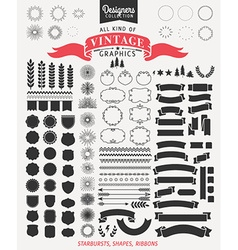 Premium design elements for retro vintage logos vector image vector image