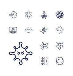 13 molecule icons vector