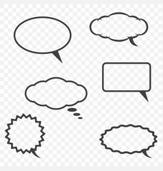 a cloud for communication in various forms on a vector image