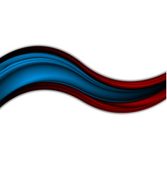Abstract contrast red blue waves vector