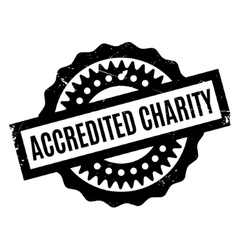 Accredited Charity rubber stamp vector