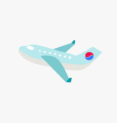 airplane with korean flag element in south korea vector image