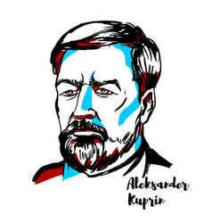 Aleksandr kuprin portrait vector