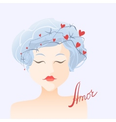 Amor Girl in love vector