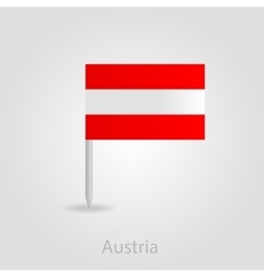 Austria flag pin map icon vector