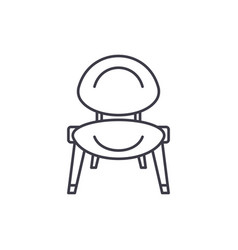baby chair line icon concept baby chair vector image