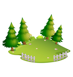 Background scene with park at daytime vector