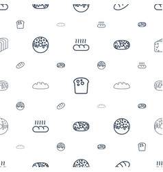 Bake icons pattern seamless white background vector