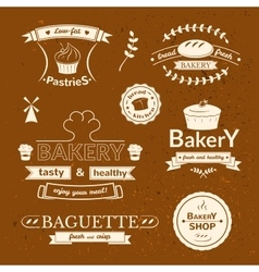 Bakery signs set vector image
